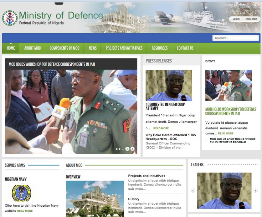 MOD Website